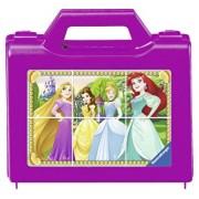 Puzzle in cutie Printesele Disney, 6 piese