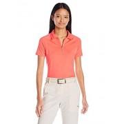 Skechers Women's Marker Zip Polo, Coral, XS