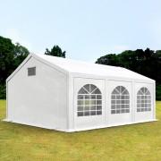 Intent24.fr Tente de réception 3x6m PE 300 g/m² blanc imperméable barnum, chapiteau