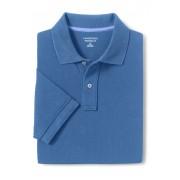 ランズエンド LANDS' END メンズ・ヘリテージ・ポロ/無地/半袖/ポロシャツ(ブルーウェーブ)