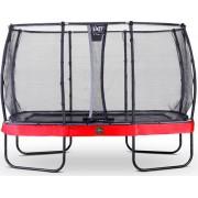 EXIT Studsmatta Elegant Premium Rektangulär 244x427 Röd +Safetynet Deluxe