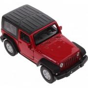 Welly schaalmodel Jeep Wrangler Rubicon 1:34 rood 11 cm
