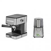 Pachet Espressor cu pompa Studio Casa Mio SC 2001 850 W 15 bar 1.2 l + Rasnita Del Caffe Grind Master 220W 60g Inox