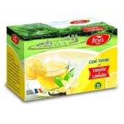Ceai verde cu lamaie si vanilie, 20 plicuri, Fares