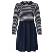 ONLY Striped Long Sleeved Dress Kvinna Blå