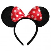 Innovative Mickey Mouse Minnie Mouse Ears Headband / Hairband Costume Accessory