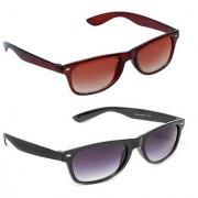 Magjons Fashion Combo Of Brown Black Wayfarer Sunglasses