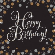 Liragram Pack 16 Servilletas Happy Birthday