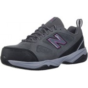New Balance Women's 627v2 Work Training Shoe, Grey/Pink, 8.5 B US
