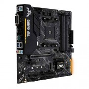 Asus TUF B450M-Plus gaming moederbord socket AM4 (mATX, AMD B450, DDR4-geheugen, M.2, native USB 3.1 Gen2, Aura Sync)