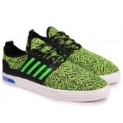 Andrew Scott Men's Green Stretch Fabric Sneakers(Green)