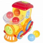 Locomotiva interactiva cu bile, lumini si sunete - Hola Toys