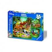 Puzzle Bambi, Baloo Si Simba, 3X49 Piese