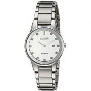 Citizen Analog Silver Round Women's Watch-GA1050-51B