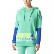 adidas Women's Stellasport Long Gym Hoody - Green/Blue - XS/UK 4-6 - Green