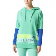 adidas Women's Stellasport Long Gym Hoody - Green/Blue - M/UK 12-14 - Green