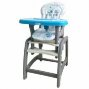 Scaun de masa 2 in 1 Hello World Baby Mix Blue