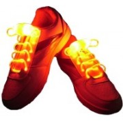 Trendzino ™ LED Colorful Battery Powered Lighting the Night Shoestring Led Shoelaces Light Up Shoe Laces for Adults Cool Shoelaces Shoe Lace(Orange Set of 2)