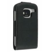 Synthetic Leather Flip Case for Nokia E5 - Nokia Leather Flip Case (Black)