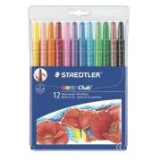Creioane colorate cerate retractabile, 12 culori/set STAEDTLER TWISTER