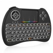BLCR H9 mini teclado inalambrico de 92 teclas con panel tactil? RGB retroiluminado - negro