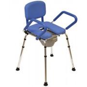 4az1ben zuhanyszék és szoba wc párnázott üléssel, emelő mechanizmussal segít a felállásból 120 kg-ig 2 év garanciával