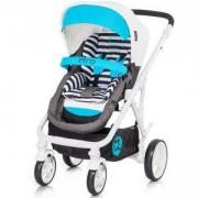 Детска количка Етро - тюркоаз с включена чанта, Chipolino, 350500