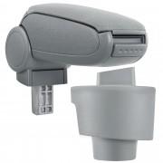 PremiumXL - [pro.tec] Naslon za ruke – specifičan za Seat Ibiza 6J - naslon za ruke za auto - sa pretincem - tkanina - siva