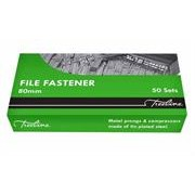 Treeline File Fasteners 80mm 50sets, Retail