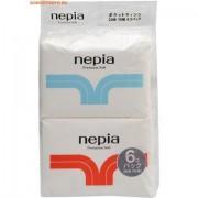 """NEPIA """"Premium Soft"""" Бумажные двухслойные карманные платочки, 6 упаковок по 10 шт."""