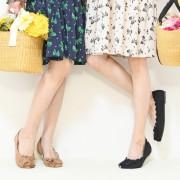 &LOVE トリプルリボンのHAPPYフラットシューズ【QVC】40代・50代レディースファッション