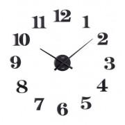 Zegar ścienny JVD HB13.2 naklejany na ścianę, szybę...Black Mat