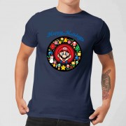Nintendo Camiseta Navidad Nintendo Super Mario Mario Happy Holidays - Unisex - Azul marino - XL - azul marino