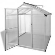vidaXL Seră ranforsată din aluminiu, 3,46 m²