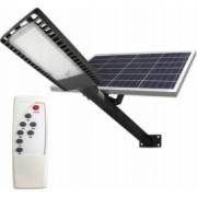 Lampa solara stradala 120W LED telecomanda 30000mAh 9500lm panou solar 40W IP65