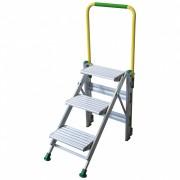 Facal Klapptreppe Plio mit Sicherheitsbügel Aluminium 3 Stufen