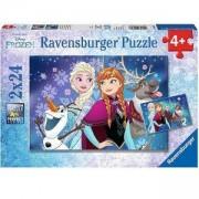 Детски пъзел 2 в 1 - Дисни Замръзналото кралство - Ravensburger, 700508