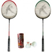 Hipkoo Toofani 007 Wide Body Rackets With Feather Shuttlecock (3 pcs) Free Bag Inside