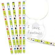 Baker Ross Football Kids Pencils - 12 Funny Wooden Pencils In 3 Colours. Fun Pencils For School. Football Party Bag Fillers. Size 17.5cm.