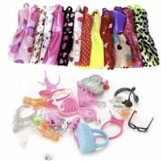 iDream Doll Accessories Combo Pack - 10pcs Doll Dress 40pcs Accessories