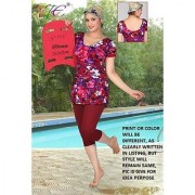 LADIES / GIRLS / WOMEN SWIMWEAR / COSTUME / DRESS COLOR PRINT WITH JOINT LEGGY