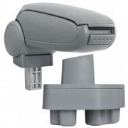 Подлакътник [pro.tec]® Opel Corsa C / Opel Combo C с контейнер за съхранение , Текстил, Сив