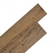 vidaXL Самозалепващи подови дъски от PVC 5,02 м² 2 мм орехово кафяво