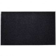 vidaXL Изтривалка за входна врата от PVC, черна, 120 х 180 см