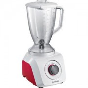 Блендер Bosch MMB21POR, 500 W, 2.4 л, 2 Скорости + Pulse, Бял/Червен