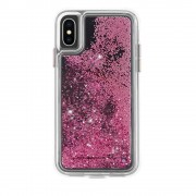 CaseMate Waterfall Glow Case - дизайнерски кейс с висока защита за Apple iPhone XS, iPhone X (розово злато)
