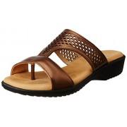 Dr. Scholls Women's Paris Mule Tan Light Brown Leather Slippers - 4 UK/India (37 EU)(6743933)