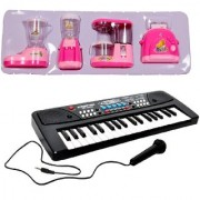New Pinch Combo of 37 Key Piano Keyboard Toy with DC Power Option Recording and Mic with Educational Household Set Juic
