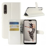 Huawei P20 Pro Litchi Texture Horizontal Flip Leather Case with Wallet & Holder & Card Slots(White)