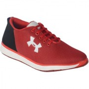 Running Rider Men's Casual Sneaker Red Black Shoes